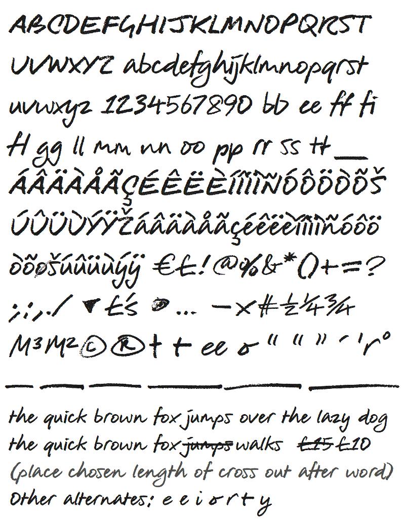 Wickes custom typeface set