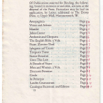 Doves Press Catalogue 1914