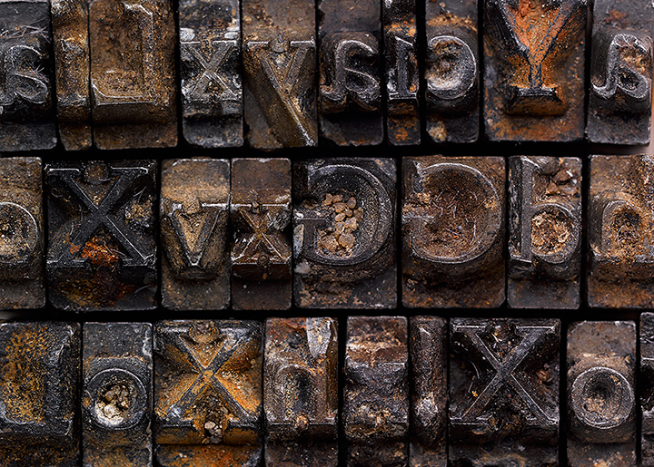 Doves Press Type recovered from the Thames 2014.
