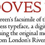 Doves Type Regular font