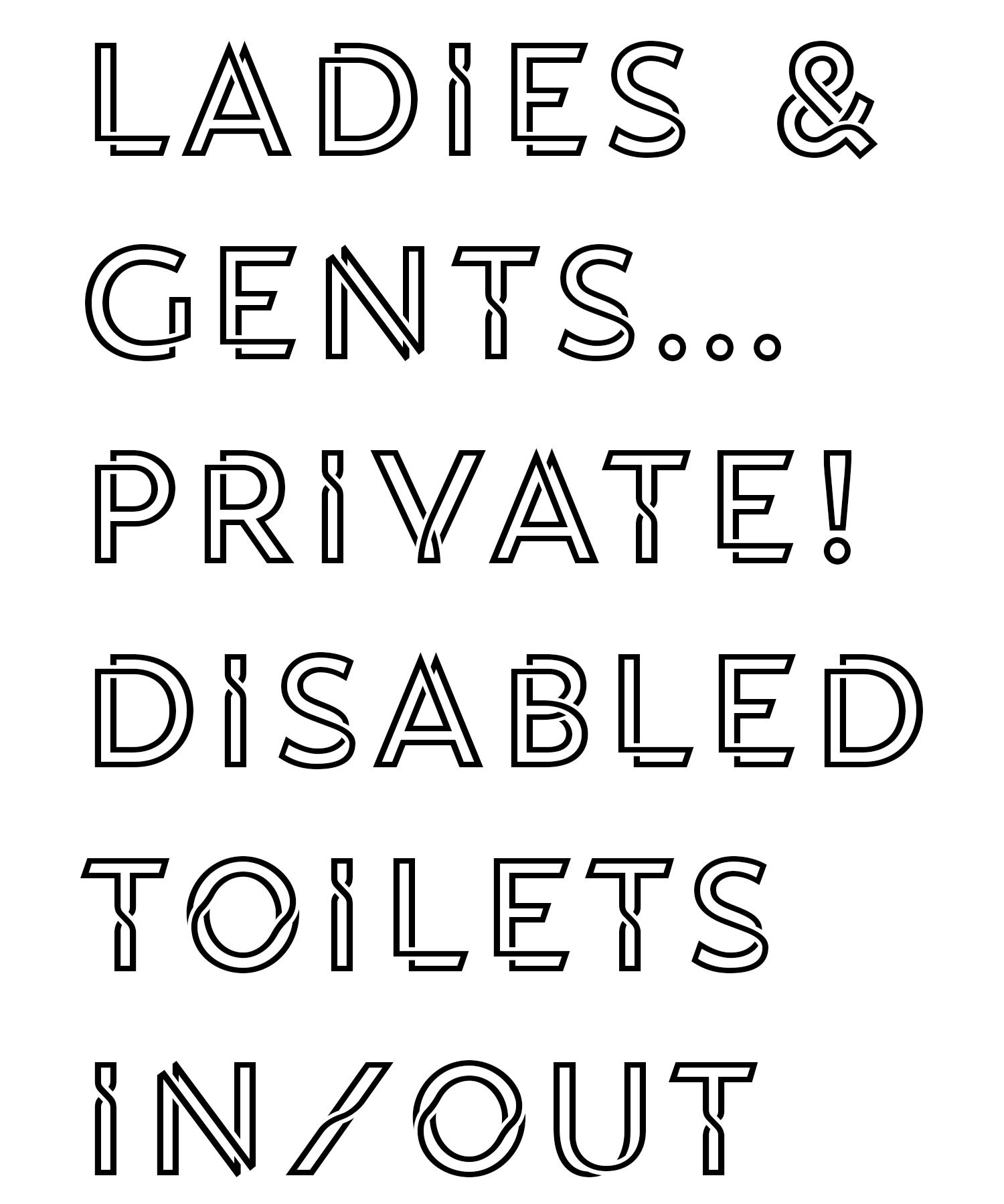 Sizzling Pubs bespoke font