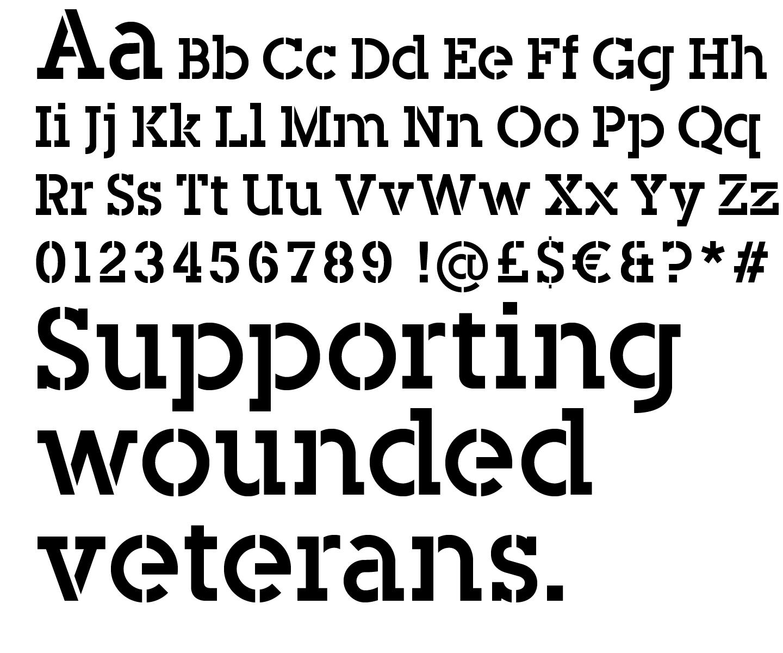 Bespoke type for Blesma charity