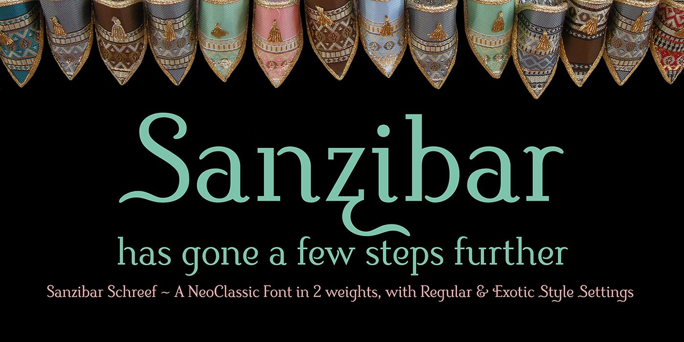 Sanzibar Schreef typeface