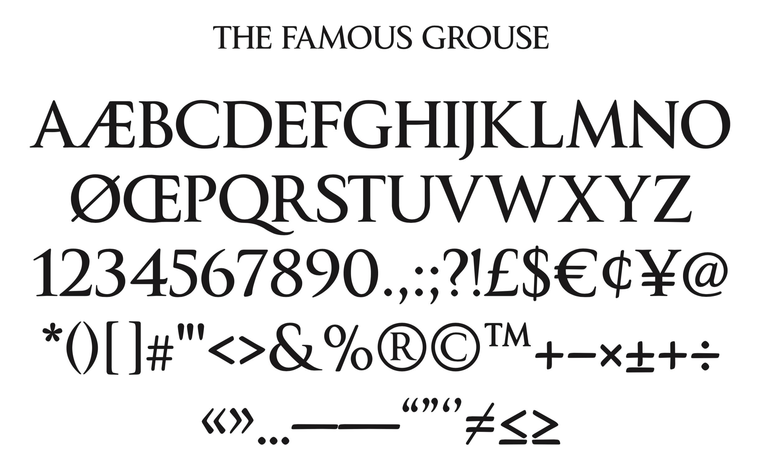 TFG bespoke font design