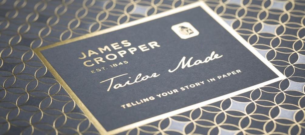 James Cropper brand typography